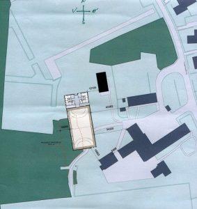 Hallens placering